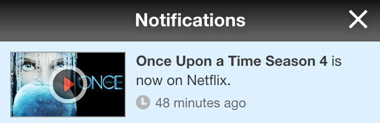 Thank you gods just got the notification that my favorite show season 4 is now available ? #onceuponatime