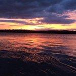@samfmbristol tonights sunset from the river Severn in Gloucestershire! http://t.co/RBzvnrVcV8