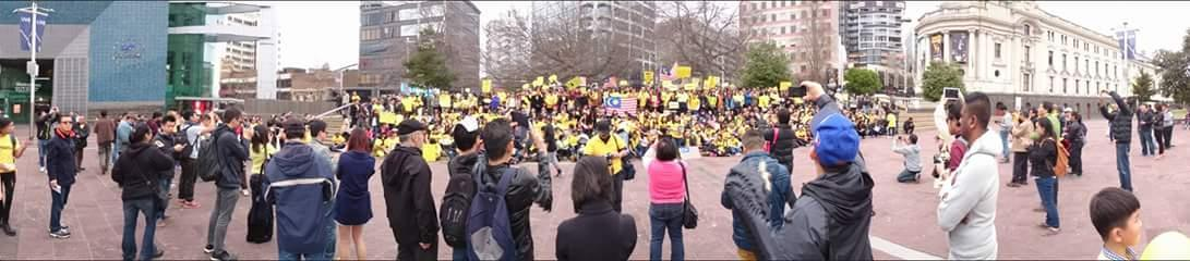 #Bersih4 in Auckland, New Zealand. http://t.co/ifP7xxUmad