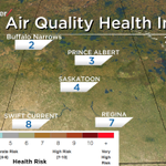 Air quality continues to worsen across southern #Sask to a high health risk now! Latest @GlobalSaskatoon NHF@10 #yxe http://t.co/JFbUyRTnsR