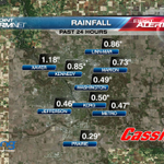Quite a range of rainfall totals across the Cedar Rapids metro as of about 9:30pm Saturday... #KCRGWX http://t.co/T92OjAosUA