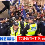 Angry scenes in Bendigo, with protesters pepper-sprayed and Australian flags burnt. @JaydeVincent reports #9NewsAt6 http://t.co/QyzlvL2ptw