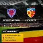 STSL 2015-2016 Hasan Doğan Sezonu 3.Hafta maçında Mersin İdmanyurdu deplasmanındayız. #BugünGünlerdenKayserispor http://t.co/yYYzCAE3KM