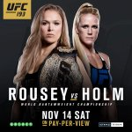 BREAKING: @RondaRousey vs @_HollyHolm moved to #UFC193 in Melbourne, Australia @EtihadStadiumAU on November 14! http://t.co/1WEgf49eFc