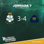 90+7 Termina el partido en la cancha del #EstadioCorona.   SAN 3-4 PUM #J7 #LigaMX http://t.co/T1ELkOeLNa