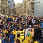 #Bersih4 in Melbourne! Crazy crowd! http://t.co/0eJlA78Xix