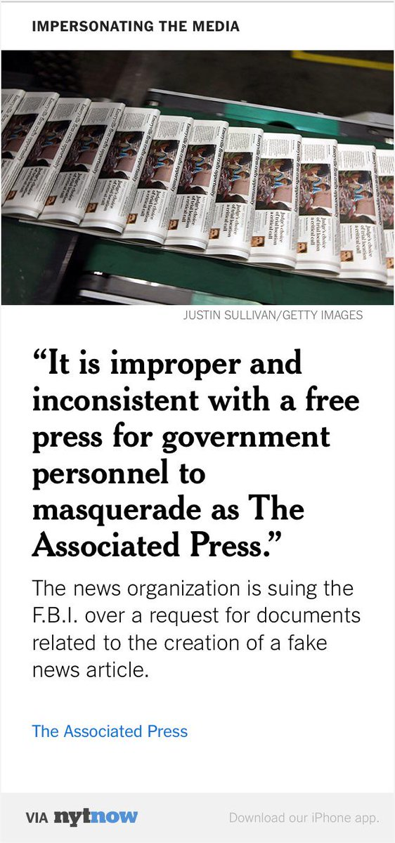 AP Sues Over Access to F.B.I. Records Involving Fake News Story  http://t.co/PITKGfFIGh http://t.co/grYI9YuaIv