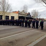 Hundreds of police have basically locked down Bendigo city centre. #7newsMelb http://t.co/ZCPbwlZRQk