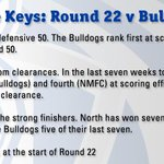 Three keys to follow during todays match #aflnorthdogs http://t.co/lsLoSq9B4o