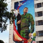В центре Донецка появилось 15-метровое граффити, символизирующее защиту детей Донбасса! http://t.co/UYpzBFWwtl