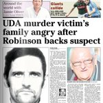 UDA murder victims family angry after Peter Robinson supports suspect http://t.co/t20WEF9I62 …  #frontpage http://t.co/QdLAfVV23C