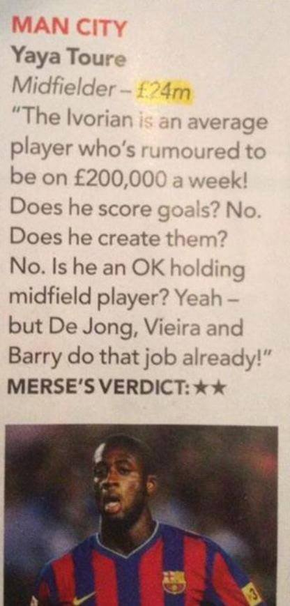 Paul Merson told us this about @YayaToure . Isn't it amazing when you prove people wrong. Some wins. http://t.co/fOM9Zh3GDr