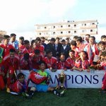 Nepal U19 beats India U19 by 5-4 in penalty shoot out to clinch SAFF U19 CHAMPIONSHIP @BlueTigersIndia http://t.co/MkHbL84GBM