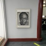 I just saw this awesome artwork made from pure water sachets at the Impact Hub, Accra.  #233moments http://t.co/m9815L3A4h