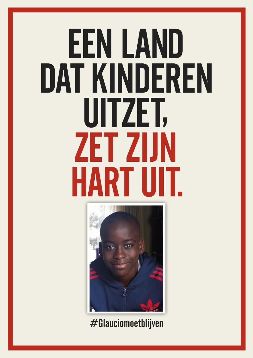 Een land dat zijn kinderen uitzet, zet zijn hart uit. Kom 31/08 naar de protestaktie in Zeist/Soesterberg #Glaucio http://t.co/WxXqfo6TCz