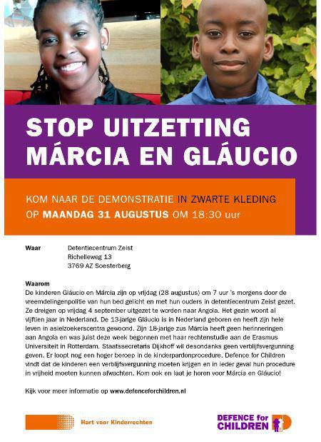 31/8 1830hr Protestaktie tegen detentie en uitzetting #Glaucio en #Marcia bij detentiecent.Zeist http://t.co/SbRHkWHfIu
