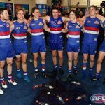 """ ...TEAM OF THE MIGHTY WEST!"" WATCH the boys sing the song after the win --> http://t.co/YsvX9qtpi3 #bemorebulldog http://t.co/vdI8juPKAk"