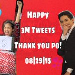 Yes! 3M Tweets Congratulations!Thank you sa walang sawang pagtutweet. @aldenrichards02 @mainedcm #ALDUBMaiDenHeaven http://t.co/uPccYjYw6b