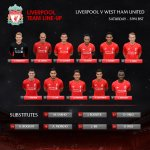 Today's confirmed #LFC starting line-up and subs in full on our matchday graphic http://t.co/14C67z279d