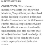 Hartcher retracts his report that Abbott ordered #OperationFortitude via @Jim_Pembroke http://t.co/7E57ivuG5q http://t.co/sOLMX3YC0P