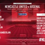The teams are in! #NUFCvAFC http://t.co/2LsaAZLV7W