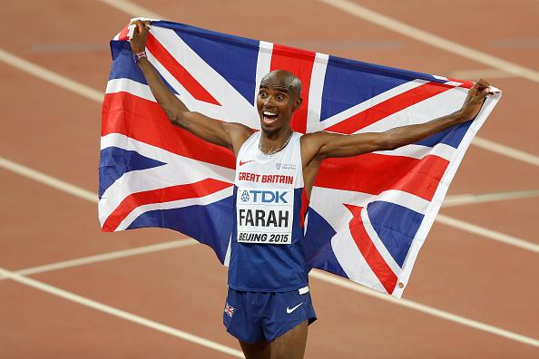 Ladies and Gentlemen, your TRIPLE DOUBLE GOLD medallist over 5000m and 10000m...@Mo_Farah #Beijing2015 http://t.co/HOK2DUKPN6