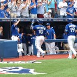 .@Encadwin extends the hit streak to 24 with a 3-run HR! @BlueJays lead 3-0 in the 1st. http://t.co/aXB0OKfCkO