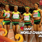 Congratulations to Jamaica, who take the womens 4x100m world title in a championship record 41.07! http://t.co/glxswm4mIp
