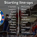 Team news from #CFC v #CPFC; Cahill replaces Terry & Pedro makes his home debut. http://t.co/HqvrnbjH4S http://t.co/auC4mNdeNh