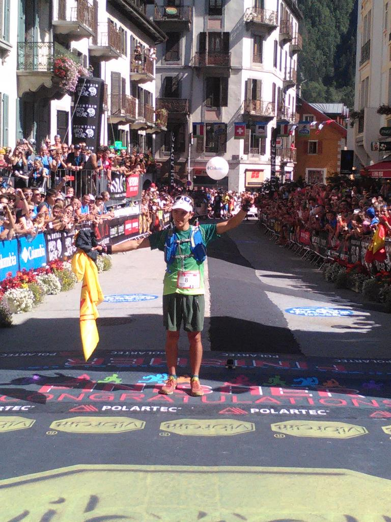 First finisher for the #UTMB Xavier Thevenard great champion!!!! http://t.co/RKiayFHL7Q