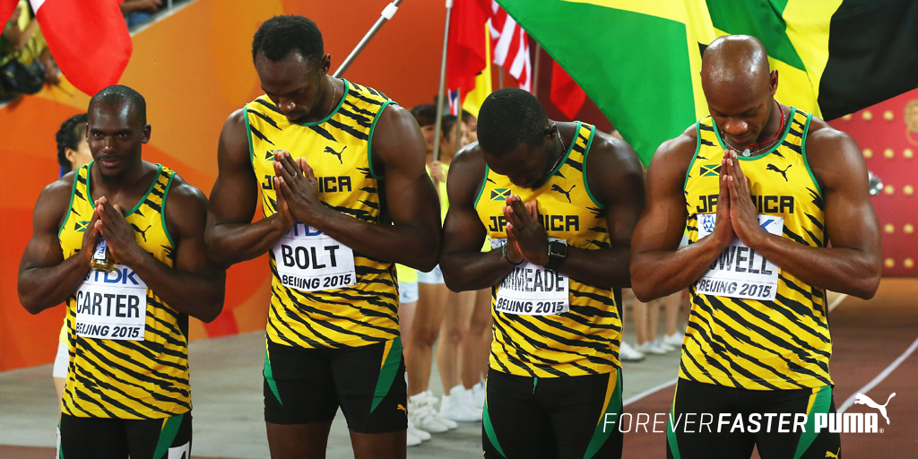Forever unstoppable. Men's 4x100m GOLD. #TeamJamaica @usainbolt http://t.co/49wKDUB7x7