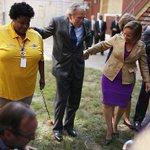 George W. Bush dances with a New Orleans band on Hurricane Katrinas 10th anniversary http://t.co/da4mMhMCom http://t.co/j1hQ1x7Jr7