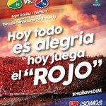 ¡Hoy la felicidad es ver al #ROJO en la cancha! #VamosMedellin. #HuilavsDIM. 3:15 p.m. Estadio Centenario de Armenia. http://t.co/f3YFBSB6co