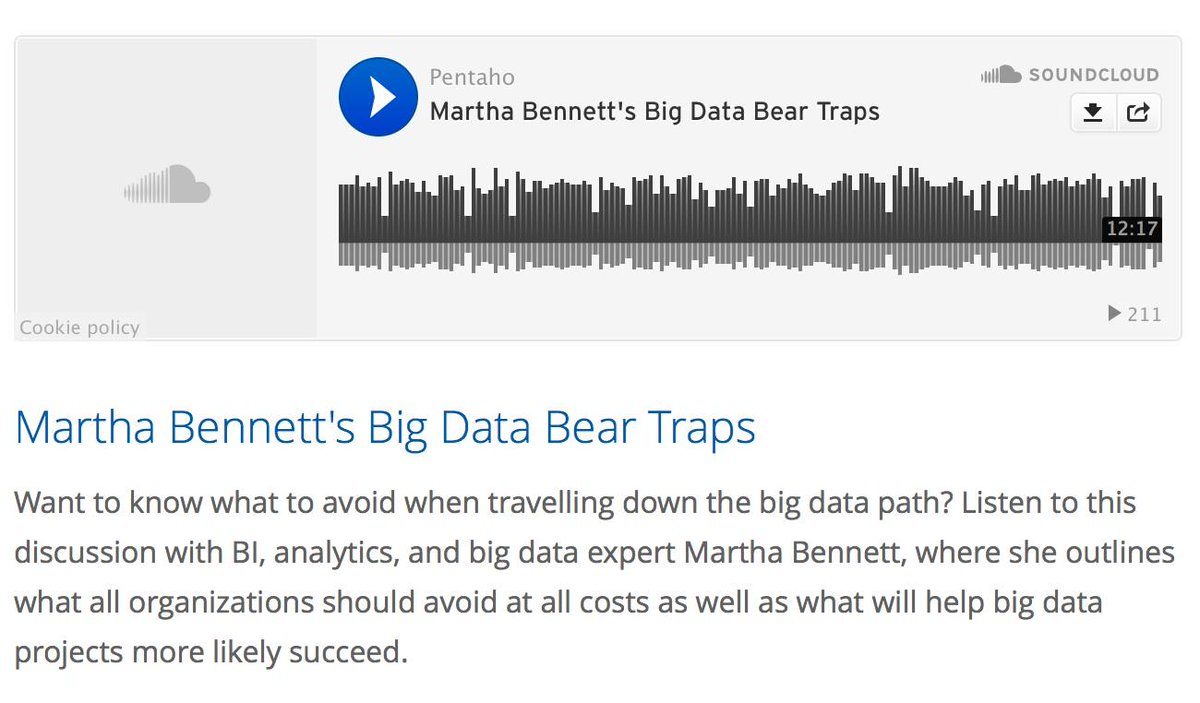 Want to know what to avoid when traveling down the #bigdata path? Listen to this discussion http://t.co/NCGeRmuwLR http://t.co/SNXnpljGCO