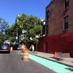 Today #Gowanus gets greener with a freshly painted #bikenyc lane! 9th St #Brooklyn http://t.co/ihVwbs90tR