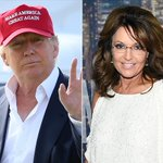 """Donald Trump Gets Interviewed by Sarah Palin, Says Shes a """"Terrific Person"""" http://t.co/XVJXjPqgUi http://t.co/57It1favpY"""