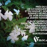 Le Bloc salue la contribution de la communauté tunisienne à lessor du Québec. Bon festival ! #Elxn42 #ATA #PolCan http://t.co/Rg18KA3MxA