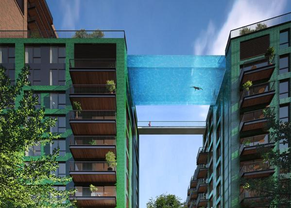 どんな絶叫マシーンよりも恐い!ロンドンに建設予定の空中プールが凄すぎる → http://t.co/CBL2zciqij #style4 http://t.co/s2xxMMLg0N 下を通る方が怖いかも笑
