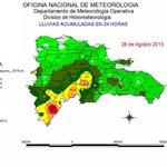 Vía @onamet Distribución de las lluvias durante el paso de #Erika Mayor valor: Polo-Barahona=222.5mms #DefensaCivilRD http://t.co/N88F9HF47Z