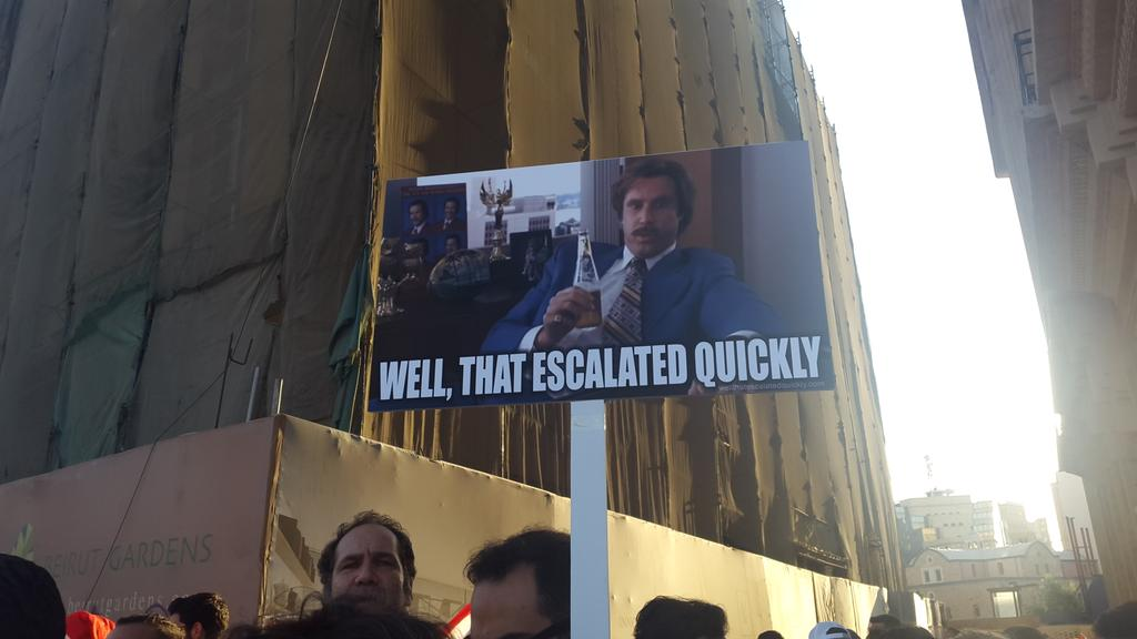 My favourite protest sign so far #YouStink #طلعت_ريحتكم http://t.co/lA6Aj7PX2W