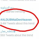 HIGHEST PHILIPPINE TREND RECORD IN LESS THAN 24 HOURS , 3.4 MILLION... LUPET NYO ALDUB NATIONS #ALDUBMaiDenHeaven http://t.co/dhFgEczNY1