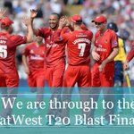 SIX AGAIN AND THATS IT! @LancsCCC have beaten @hantscricket by 6 wickets and progress to the @NatWestT20Blast Final! http://t.co/Uj5xgNaOBv