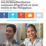Must Read ALDUB NATIONS! #ALDUBMaiDenHeaven SURPASSES #PapalVisit on Most Tweets in the Philippines http://t.co/BcMuMTOyq6