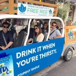 Look for your #Free Ride in #SantaMonica! Hail the golf cart–style cabs btw Wilshire & Marine to Ocean & 5th Enjoy! http://t.co/EWdo5YZ30Q