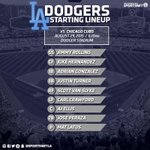 Here's your #Dodgers lineup for tonight's second game against the Chicago Cubs. http://t.co/0WON9k4HR8