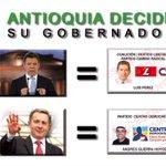 Antioquia decide si apoya la gobernación del candidato de Santos, o el candidato de Uribe. Ya saben c/u q representa. http://t.co/ELaXuxunqH