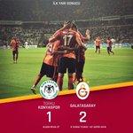 DEVRE | Torku Konyaspor 1-2 Galatasaray http://t.co/E31mGogHOV