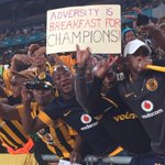 48 @KaizerChiefs fans in full voice at the Calabash. Adversity is breakfast for champions #MTN8 > http://t.co/NCHEN4RARY