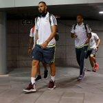 ¡Los jugadores ya están en el estadio! ¡Vamos equipo! #RMLiga #HalaMadrid http://t.co/gCo94EZrO8