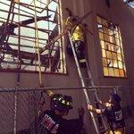 TFD Firefighters recovering an unburned Cross from the Equip Church Fire yesterday @modbee @IAFFNewsDesk @kcranews http://t.co/rrOvofayoB